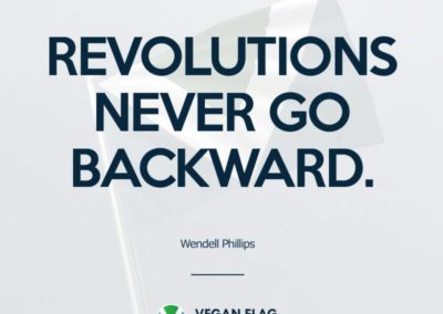 Revolutions never go backward
