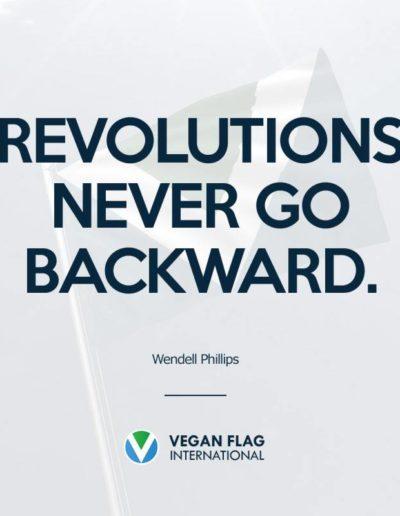 Revolutions never go backward