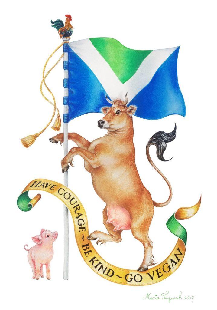 Vegan flag coat of arms
