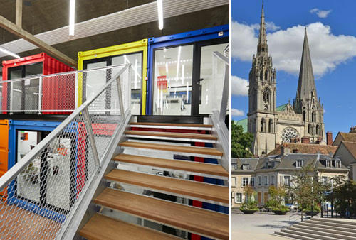 Another photo of our office in CITY OF INNOVATION and our great Chartres Cathédral